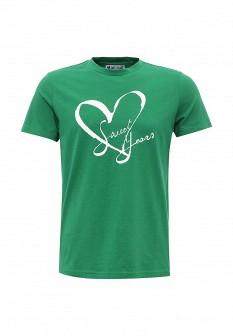 Мужская зеленая осенняя футболка