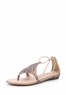 Женские розовые кожаные сандалии с высоким голенищем