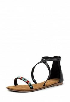 Женские кожаные сандалии с высоким голенищем