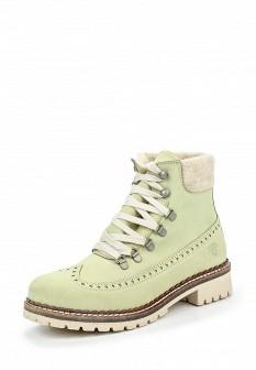 Женские зеленые осенние ботинки из нубука