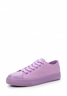 Женские фиолетовые текстильные кеды