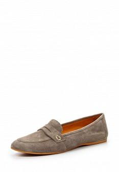 Женские бежевые итальянские туфли лоферы