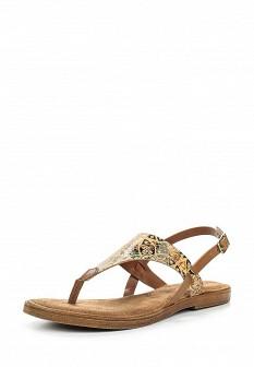 Женские бежевые итальянские кожаные сандалии