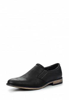 Мужские черные туфли лоферы Tesoro