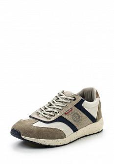 Мужские бежевые кожаные кроссовки