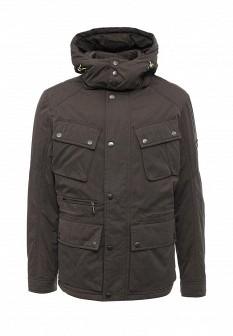 Мужская зеленая коричневая утепленная осенняя куртка
