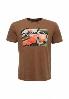 Мужская коричневая футболка TOM FARR