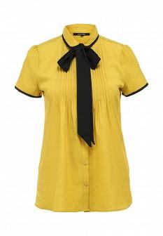 Коричневая осенняя блузка