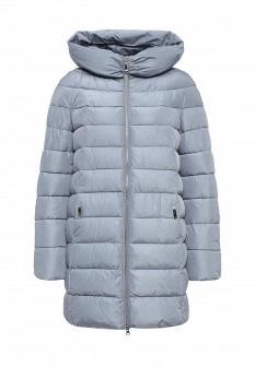 Женская голубая утепленная осенняя куртка