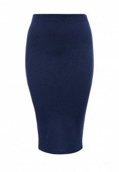 Синяя осенняя юбка TOM FARR