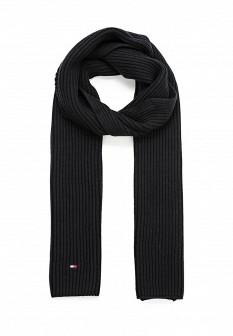 Мужской черный осенний шарф Tommy Hilfiger
