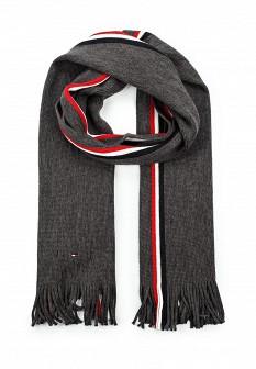Мужской серый осенний шарф Tommy Hilfiger