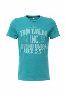Мужская бирюзовая футболка TOM TAILOR