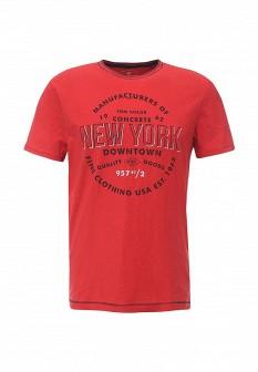 Мужская красная футболка TOM TAILOR