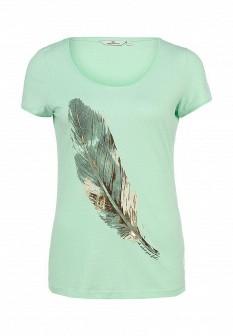 Женская зеленая футболка TOM TAILOR