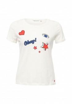 Женская белая футболка TOM TAILOR