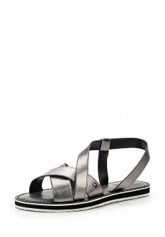 Женские серебряные сандалии