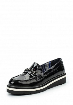 Женские черные осенние кожаные лаковые туфли