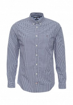 Мужская синяя рубашка Tommy Hilfiger