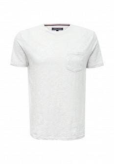 Мужская бежевая осенняя футболка