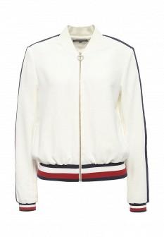 Женская белая куртка Tommy Hilfiger