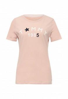 Женская розовая футболка Tommy Hilfiger