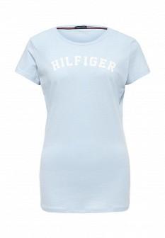 Женская голубая домашняя футболка
