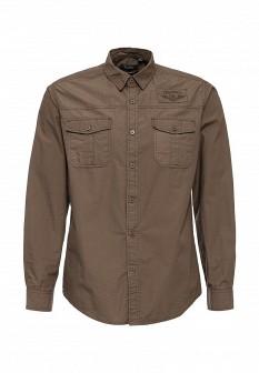Мужская коричневая осенняя рубашка