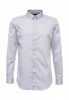 Мужская серая осенняя рубашка