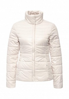 Женская утепленная осенняя молочная куртка