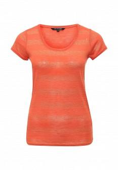 Женская оранжевая осенняя футболка