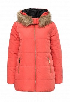 Женская оранжевая утепленная осенняя куртка