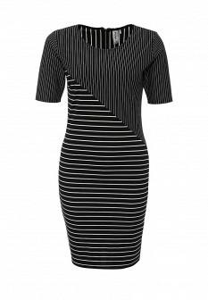 Белое черное платье