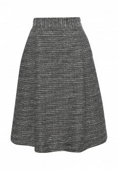 Серая осенняя юбка
