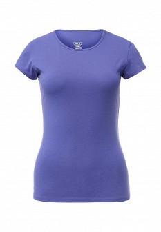 Женская фиолетовая осенняя футболка