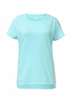 Женская бирюзовая осенняя футболка
