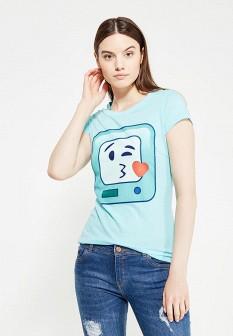 Женская бирюзовая футболка ТВОЕ