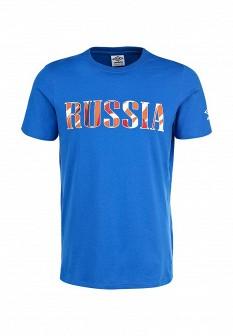 Мужская синяя осенняя спортивная футболка