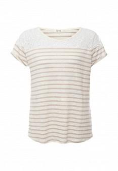 Женская бежевая футболка UNQ