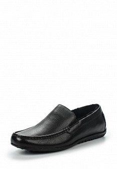 Мужские черные осенние кожаные мокасины
