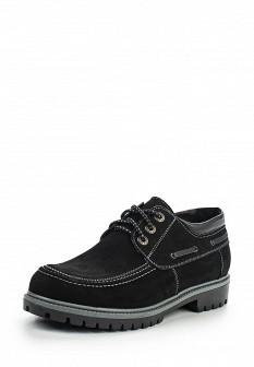 Мужские черные осенние ботинки из нубука