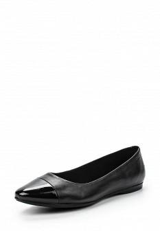 Женские черные кожаные лаковые балетки