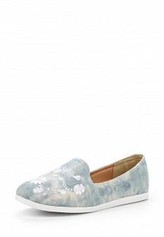 Женские текстильные туфли лоферы