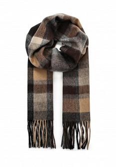 Мужской коричневый итальянский осенний шарф