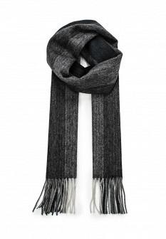 Мужской серый итальянский осенний шарф
