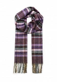 Мужской фиолетовый итальянский осенний шарф