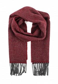 Мужской бордовый итальянский осенний шарф