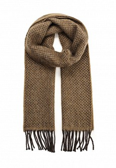 Мужской коричневый итальянский осенний летний шарф