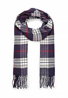 Женский синий итальянский осенний шарф