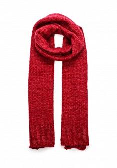 Женский красный итальянский осенний шарф